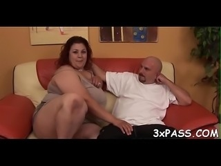 Sex with aged chubby