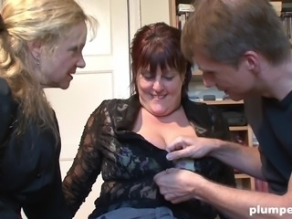 Couple of mature women want to make a fellow's dick hard