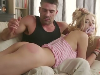 Nice though rather pale blondie Haley Reed gives impressive deepthroat BJ