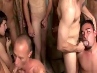 Boys in gay sex orgy Kyle Marks - the Bukkake Target!