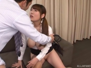 Miyoshi Aya is a busty Japanese woman in need of a cock