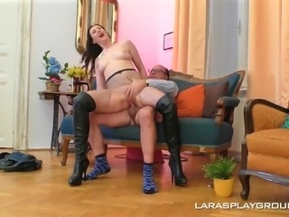 Dick craving MILF Lara enjoys being fucked by a nasty lover