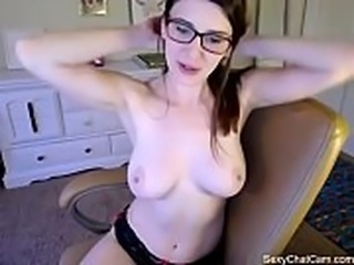 Amber Hahn plays with herself live  - Part 3