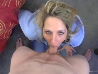 She gets a real cock to suck and enjoy