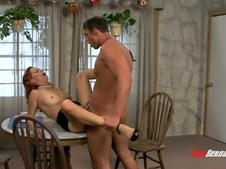 Ginger milf with perky tiny nipples Payton Leigh gets fucked doggy style