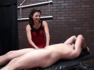 Redhair Big Boobs Gives Hot Handjob