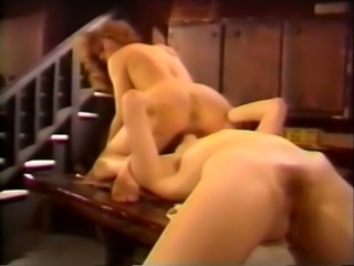 Two hot and sexy white chicks having oral sex on the stairs