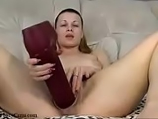 Fucking her Hairy Pussy with Big Dildo - ProxyCams.com