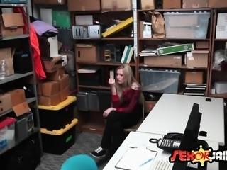 Blonde girl talked into banging stranger