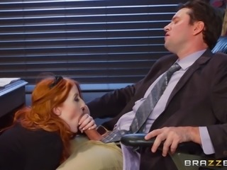 Krystal Orchid offers her pale body to a fortunate businessman