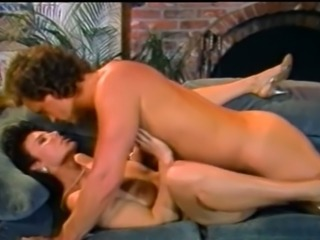 Sizzling hot and majestic brunette milf having sex on the couch