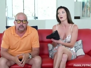 She is so tired of her stepson masturbating all over the house. He has no...