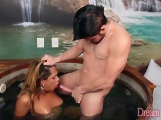 Sensual Latin Tgirl Bianca Alves Has Her Ass Fucked Hard