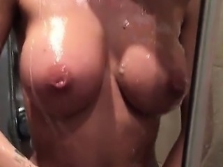 Big boobs naughty shower fun