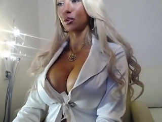 Hot blonde milf with giant boobs