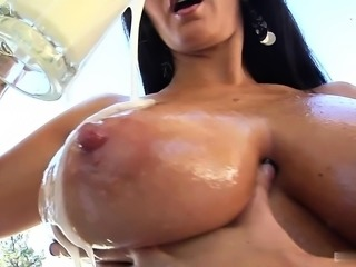 Ava Addams keeps her huge knockers nice and firm by...
