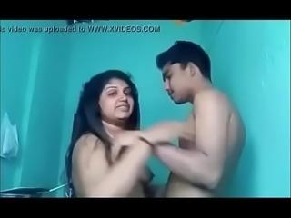 Indian Desi Aunty Arpita with Teen