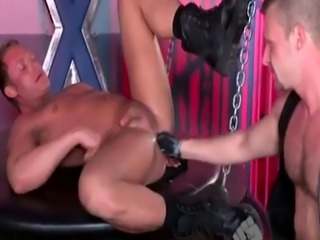 Foot fisting gay Spurred by mutual ass-probing lust  Brian Bonds and