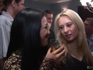 Angel Valentine, Chloe Morgan, Christina Agave and Lyla Lei are at a hardcore