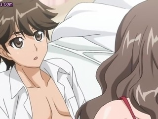 Hot anime milf dildoing and getting fucked