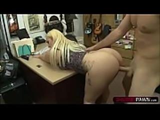 Big gonzo woman Nina Kayy sells herself and fucks Shawns cock