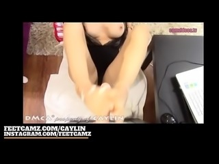Caylin - Deepthroat and Feet | FeetCamz.com/caylin