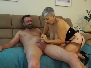 busty granny wants his dick