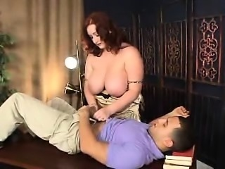 Fat slut with big boobs and mature guy fucking her