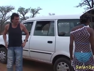 extreme hot african babes in her first outdoor safari sex orgy