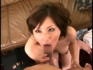 Lustful Asian milf with big boobs takes a cock for a ride