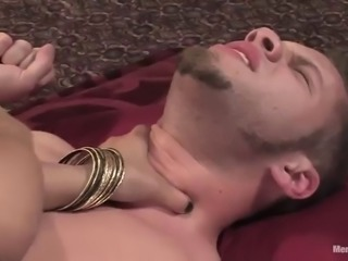 femdom action with pegging and cock ride with sexy girl