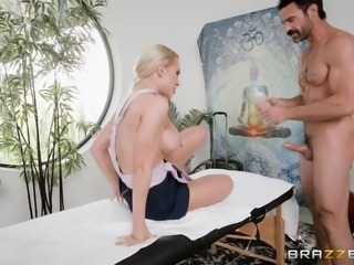 She can use her feet and hands to make her man feel good. She has footjob and...