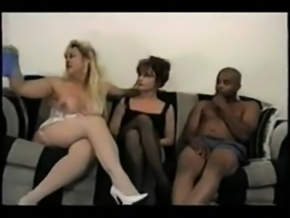 Luscious MILF with Big Boobs in Interracial Sex Action