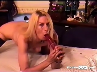 Biggest dildo deepthroat ever