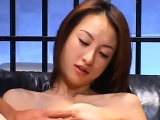 Lustful babe goes wild on cocks until sperm fills her holes