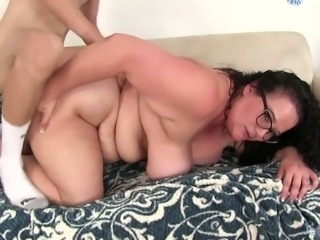 Jessica Lust is curly nerdy fatty with giant tits is in need for doggy fuck