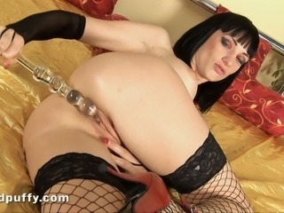 This vixen needs a dick to get off, luckily she has a toy to play with