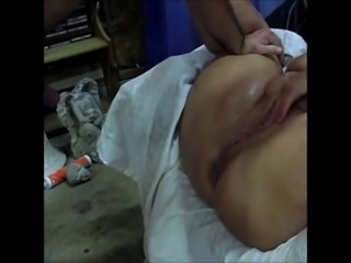 chubby milf fingered to a squirting mess