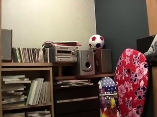 Nerdy Japanese girl with a sweet ass takes a deep pounding