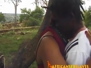 Big Black Cock Fucks Amateur Sex Slave In Public