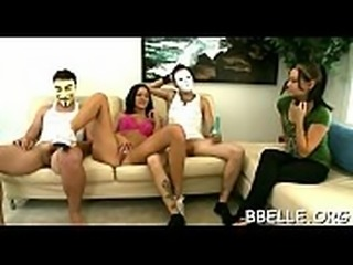 Explicit cock riding with breathtaking gals