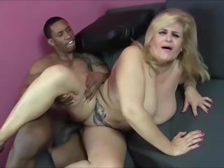 Mother fucks young big black cock by Musa Libertina