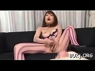 Needy japanese enjoys bukkake porn with several fellows