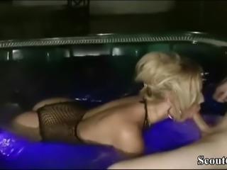 German MILF seduce Young Boy to Fuck in Whirlpool