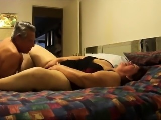 Big breasted mature lady gets her peach eaten out and fucked