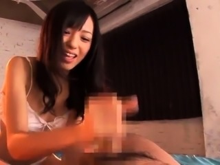 Sexy slim Japanese babe gets her hairy snatch pounded deep