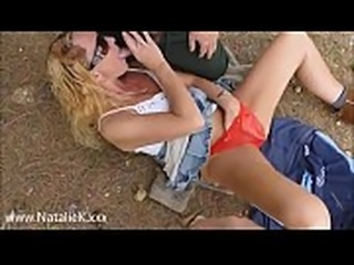 dogging outdoors sucking &amp_ blowjob on POV cock with cumshots &amp_...