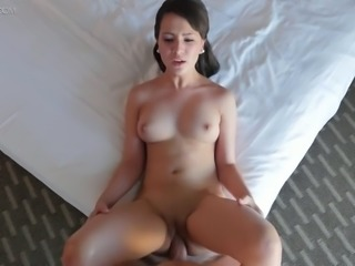 Sweet Latina bitch Stephanie Carter gets her kitty nailed in mish pose after...