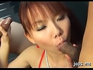 Breathtaking asian hotty gives a sizzling pov blowjob