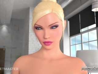 Animated big tits lesbian girls having futa anal sex